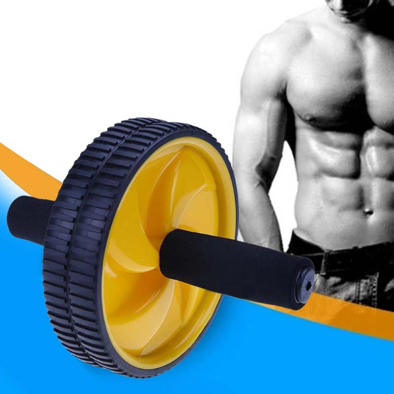 Stable Double Wheel Roller Home Use Fitness Training Double Wheel Roller With Non-slip Handle Musle Bodybuilding Equipment