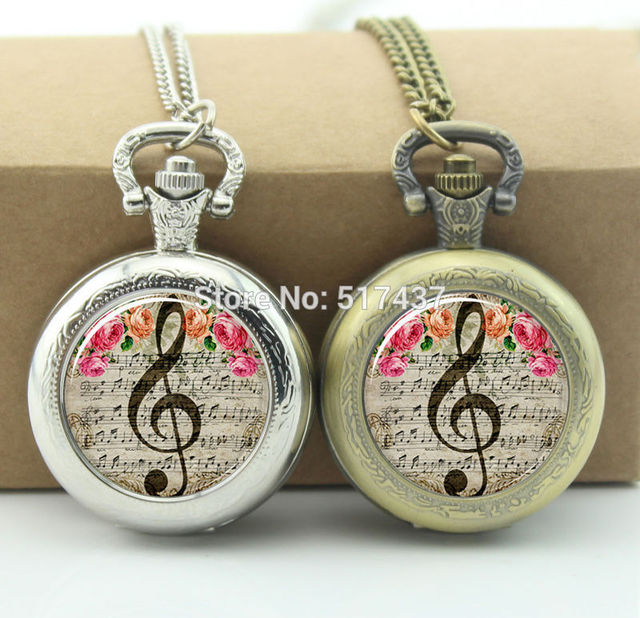 Music note pocket watch clef jewelry photo locket necklace vintage music note pocket watch clef jewelry photo locket necklace vintage pocket watch necklace silver aloadofball Choice Image