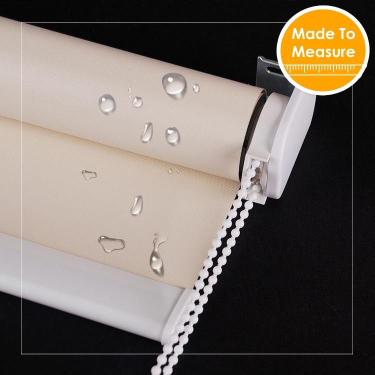 38mm tebal tiub aluminium Kalis air Blackout Roller Blinds Kalis api untuk pancuran mandian bilik Window Blinds Customized Size