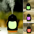 1X Cartoon Portable Penguin Mini USB Ultrasonic Humidifier Colorful Night Light Mist Maker Fogger Air Purifier Small Nebulizer