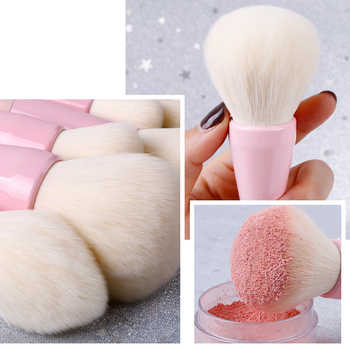 14Pcs/set Gradient Handle Makeup Brushes Soft Synthetic Hair Foundation Power Brush Set Facial Make Up Tools Cosmetic
