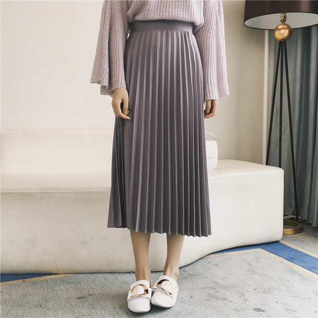 2016 new winter high-round star with retro dark green pleated skirts