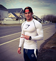 2016 Summer Men Fitness Compression Shirt RunningBlazer Crime Lifting Tight Long Sleeves