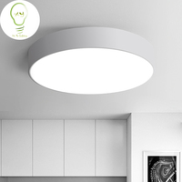 LED Modern Acryl Alloy Black White Round LED Lamp LED Light Ceiling Lights LED Ceiling Light