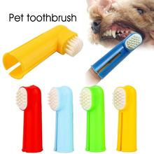 ФОТО 2pcs/lot pet finger toothbrush dog brush breath teeth care dog teddy cat cleaning brushes supplies for pet  dog accessories