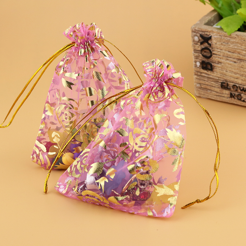 100 pcs Swirls Various Colors Wedding Party Favor Gift Candy Organza Bag Pouch