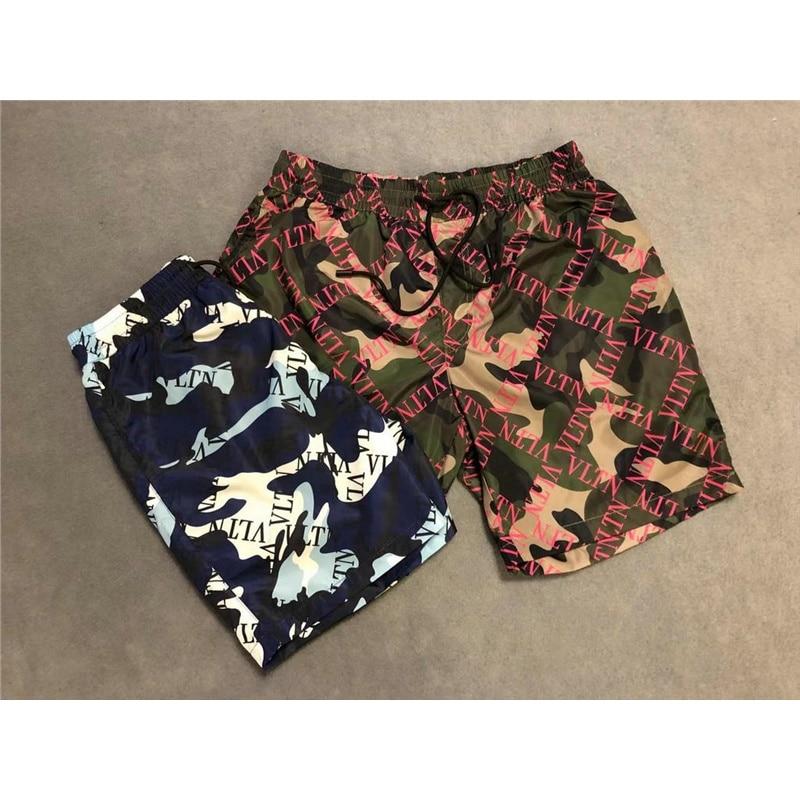 Camouflage Brand Swimwear Men's Swim   Shorts   Trunks Beach Boardshorts Man Gym Bermuda Swimsuit Mens Running Letter Surf   Shorts
