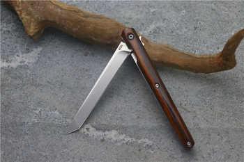 Small pen flip folding knife ball bearing M390 blade American sand iron handle outdoor camping multi-purpose hunting EDC tool