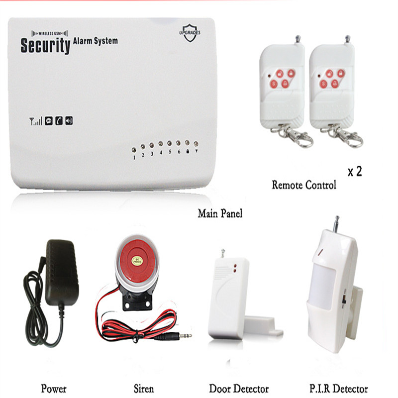 Wireless GSM Burglar Alarm System Smart Home Garage Detector Motion Sensor Russia Voice Security Protection Auto