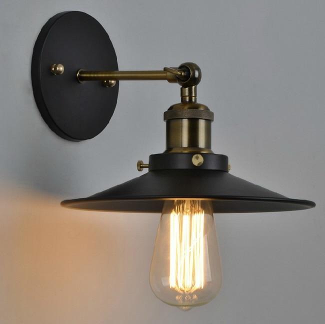 Vintage américain pays personnalité Antique industriel noir applique murale lampe salle de bain à côté de la décoration de la maison luminaire 22 CM