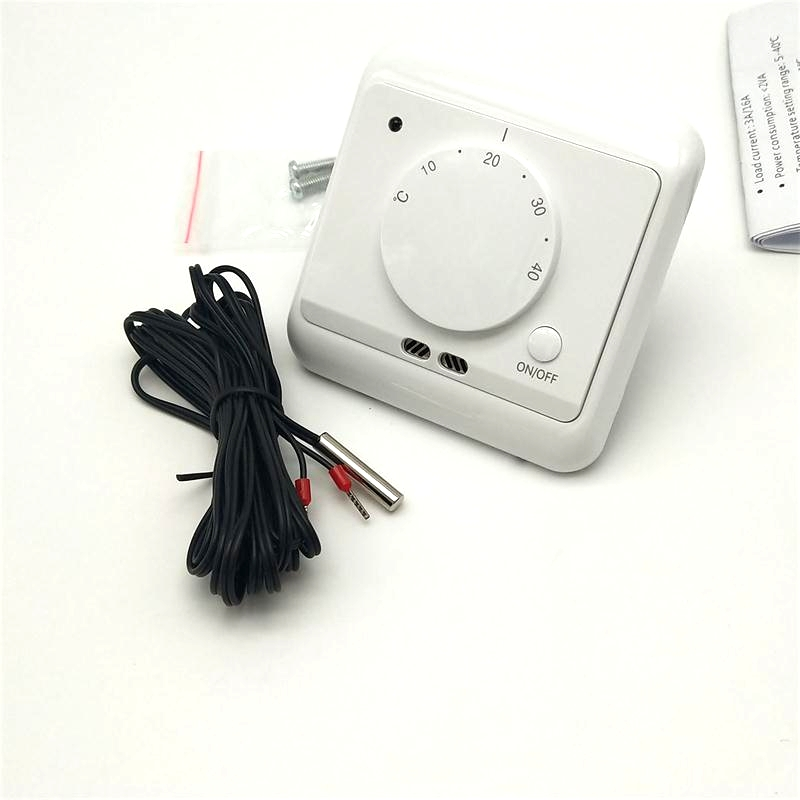 Sensor Cable 230V AC 16A Room Floor Heating Electric Thermostat Control Switch
