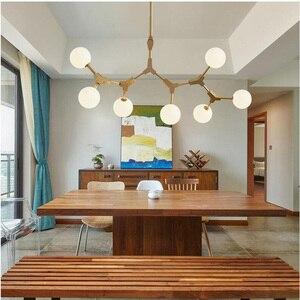 Image 5 - Nordic LED Chandeliers Glass Lighting Minimalist Molecular Chandeliers for Living Room Bedroom Bar Restaurant Lighting