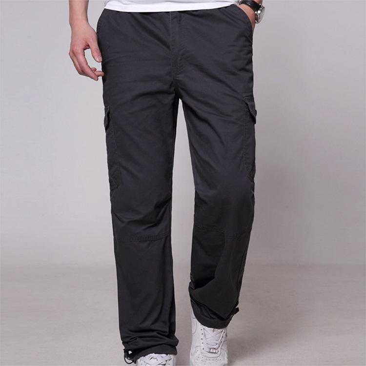Winter Cargo Pants Men Cotton Thick Trousers For Men Casual  Pockets Trousers Military Tactical Baggy Warm F-3314