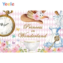 Yeele Fantasy Wonderland Element Photography Backdrop Baby Children Hat Clock Custom Photographic Background For Photo Studio