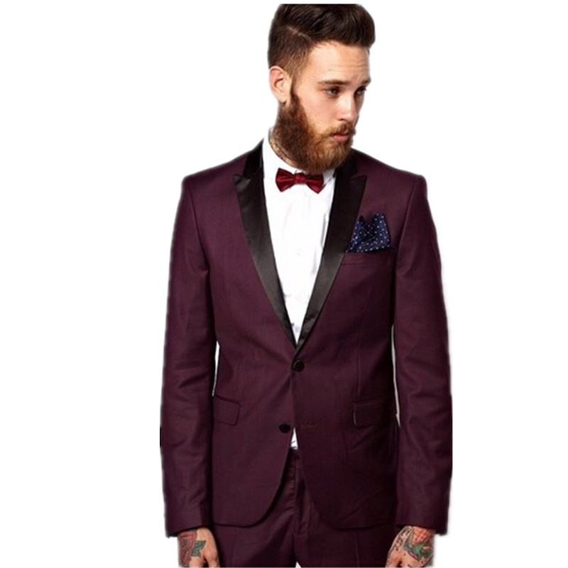 Prom Suits Maroon