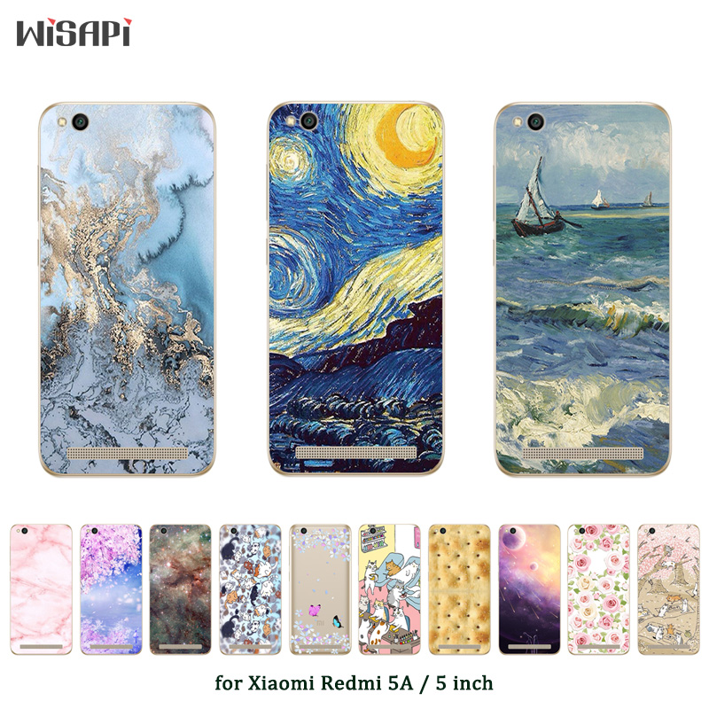 Мягкий чехол для Xiaomi Redmi 5A, модный прозрачный силиконовый чехол с принтом для телефона Xiaomi Redmi 5A 5 A 5,0 дюйма, задняя крышка|phone cases|silicone phone casecase fashion | АлиЭкспресс