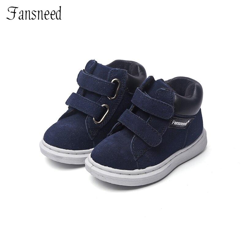 Nueva marca de cuero genuino superior zapatos de niños y niñas zapatos casuales botas Botas Niño zapatos de bebé