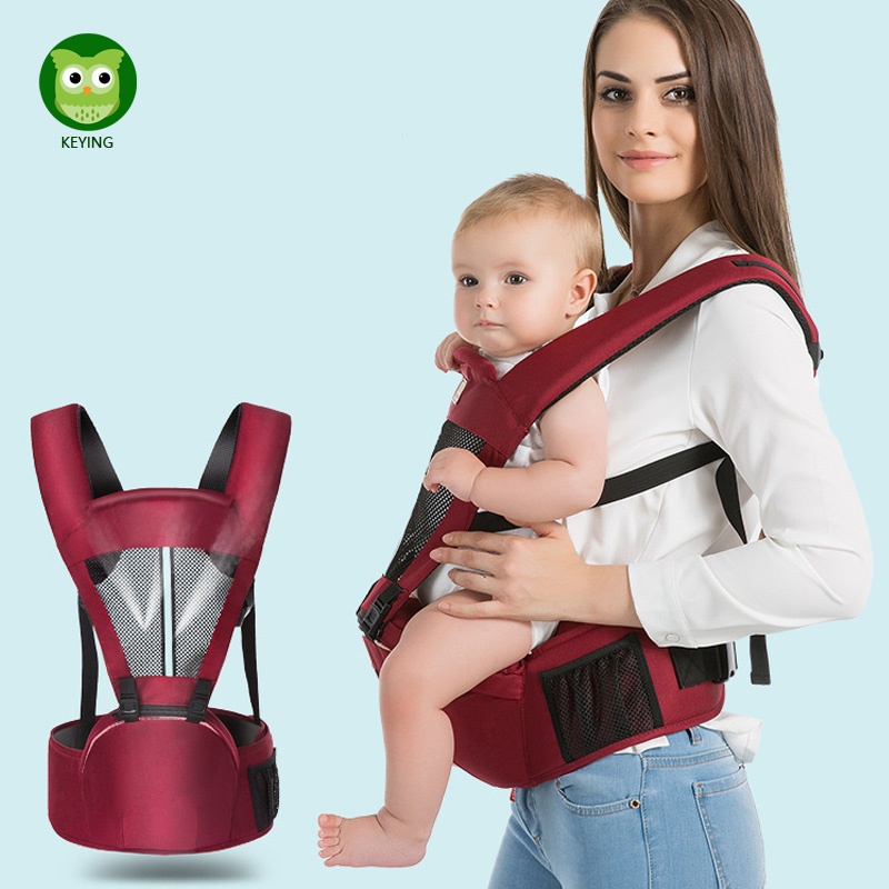 KEYING Baby Hipseat Backpack For Newborn Prevent O-type Legs Carry Style Loading Bear 25Kg Ergonomic Baby Carriers Kid Sling