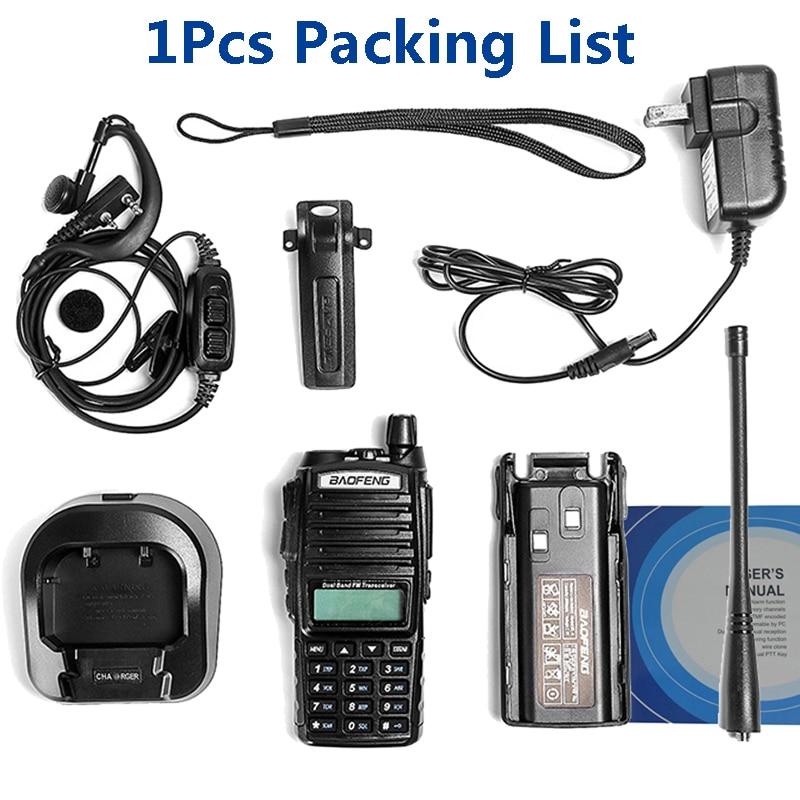 2 pièces baofeng uv-82 8 W portable talkie-walkie longue portée 10 km vhf/uhf bi-bande jambon radio station uv 82 émetteur-récepteur de chasse - 6