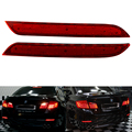 Car LED Rear Bumper Reflector Red Parking Warning Stop Brake Lights Tail Lamp For 011-14 BMW F10 F11 F18 5-series 528i/535i/550i