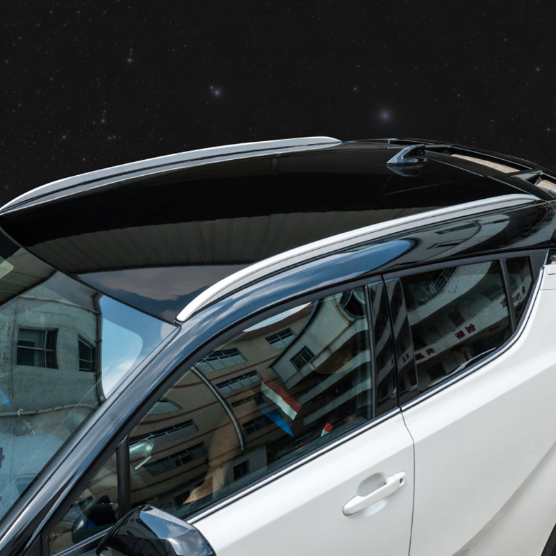 Aluminium Alloy ABS Roof Luggage Rail For Toyota CHR 2017 2018 No Drill Hole Sticky Tape Luggage Roof Rack Boxes For CHR 2019Aluminium Alloy ABS Roof Luggage Rail For Toyota CHR 2017 2018 No Drill Hole Sticky Tape Luggage Roof Rack Boxes For CHR 2019