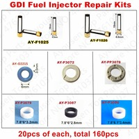 Free Shipping 20Sets GDI fuel injector repair kit For 06H906036G 0261500092 0261500096 84212195 7591623 12638530 0261000114