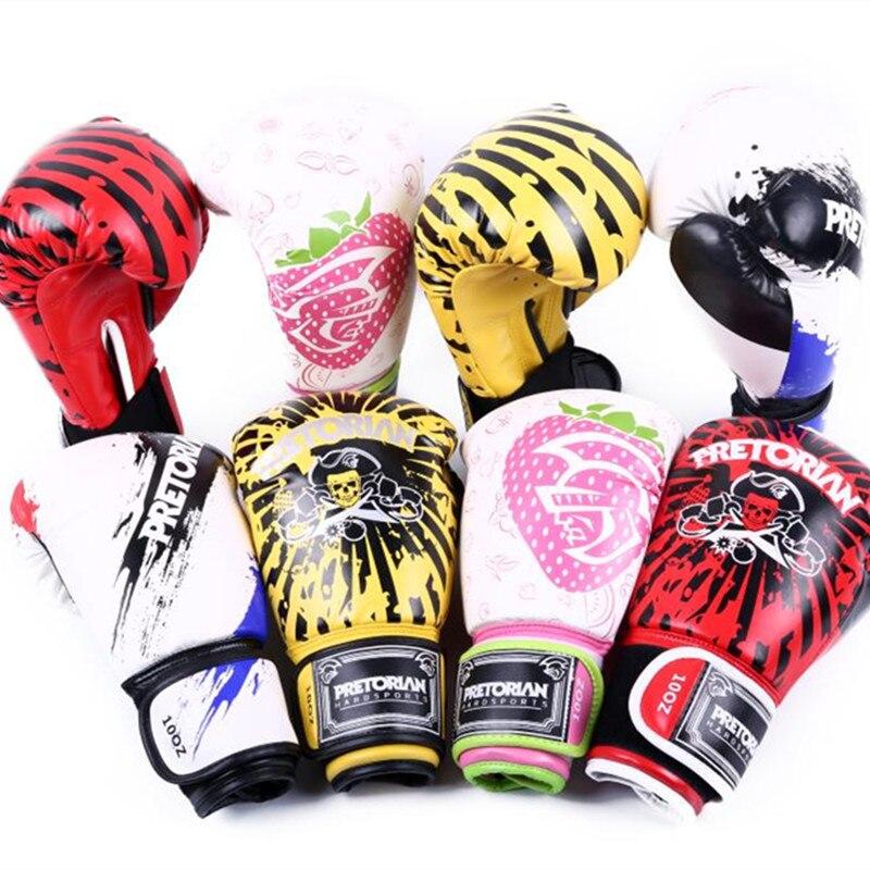 10-12 OZ PRETORIAN MUAY THAI jumeaux PU cuir gants de boxe pour hommes femmes formation en MMA GRANT gants de karaté