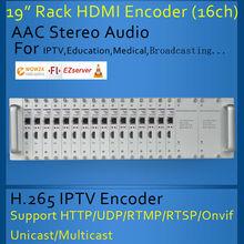 H.265 HDMI Encoder IPTV/Live Broadcast/Campus Broadcast Video encoder 16CH HDMI rack encoder