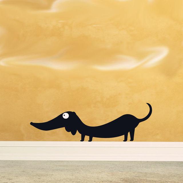 Dachshund Vinyl animal Wall Art,funny doxie doxy weiner sticker for ...