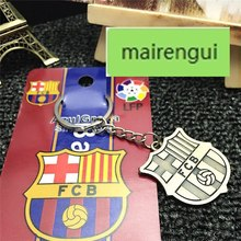 Football fans key chain men key ring pendant for Chelsea Real Madrid Inter Milan AC Milan Barcelona car keychain for BMW porsche(China)