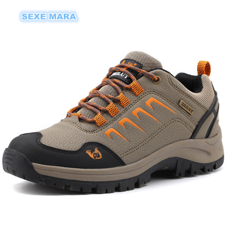 Outdoor Sneakers Autumn Winter leather Sports Shoes Women and Men antiskid Off road Waterproof Trainers Walking Running Shoes