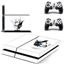 Мобильный костюм GUNDAM наклейка PS4 кожи Стикеры для sony Playstation 4 консоли защитная пленка+ 2 шт. контроллеры 3 узоры