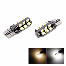 Car White warm LED Light 24 SMD 2835 LED PCB T10 W5W 147 Wedge Door Instrument