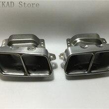 1 пара/2 шт. выхлопная труба планки Обложка для Mercedes-Benz W164 ML280 ML300 ML320 ML350 ML420 ML450 ML500 ML550 ML63 A2214901527