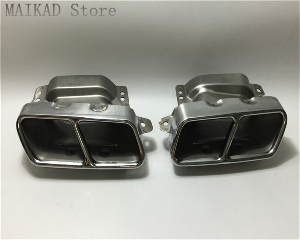 1pair/2PCS Exhaust Tailpipe Trims Cover For Mercedes-Benz W164 ML280 ML300 ML320 ML350 ML420 ML450 ML500 ML550 ML63 A2214901527