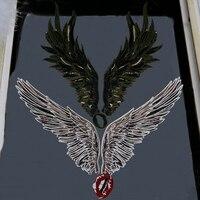 1 компл. вышивка из бисера патч Большой Крыло ангела рот патч значок шить на футболка одежда аппликация для одежды ткани аксессуары p68