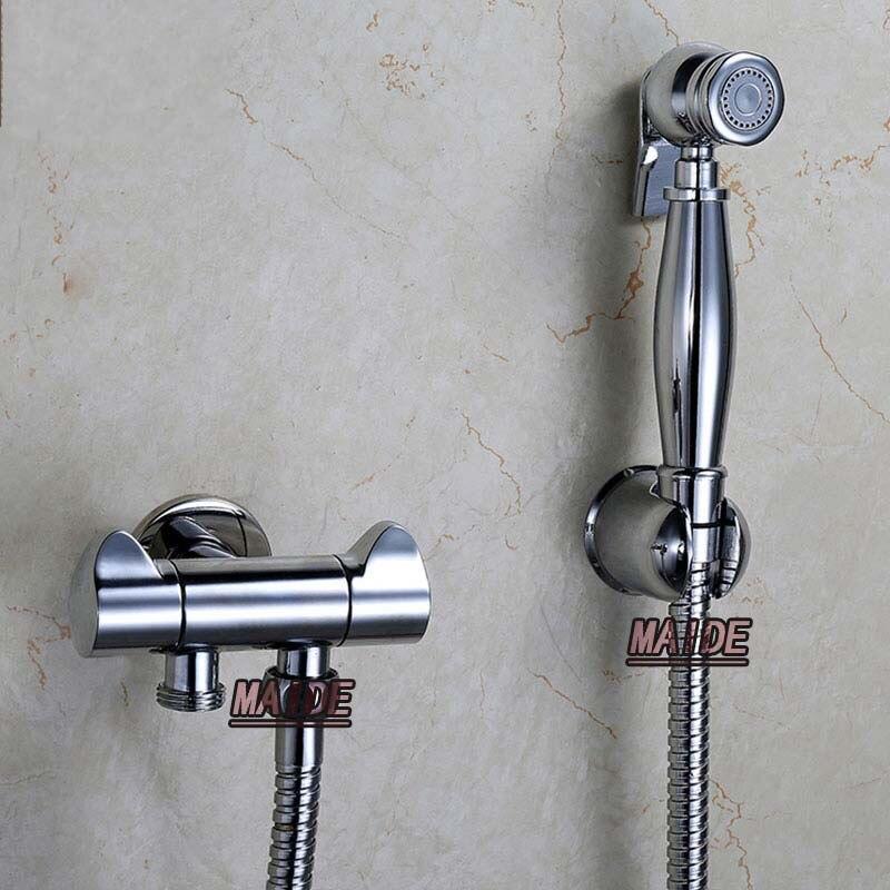 Toilet Brass Hand Held Bidet Spray Shower Head Douche Kit Shatta Copper  Valve Bathroom Bidet Sprayer