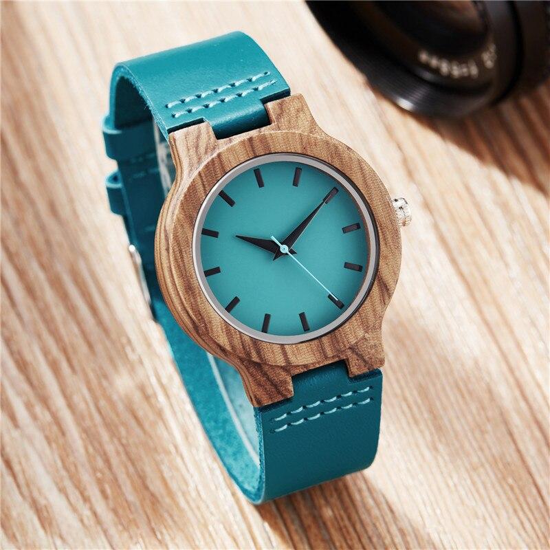 Azul Relógio De Madeira Dos Homens Das