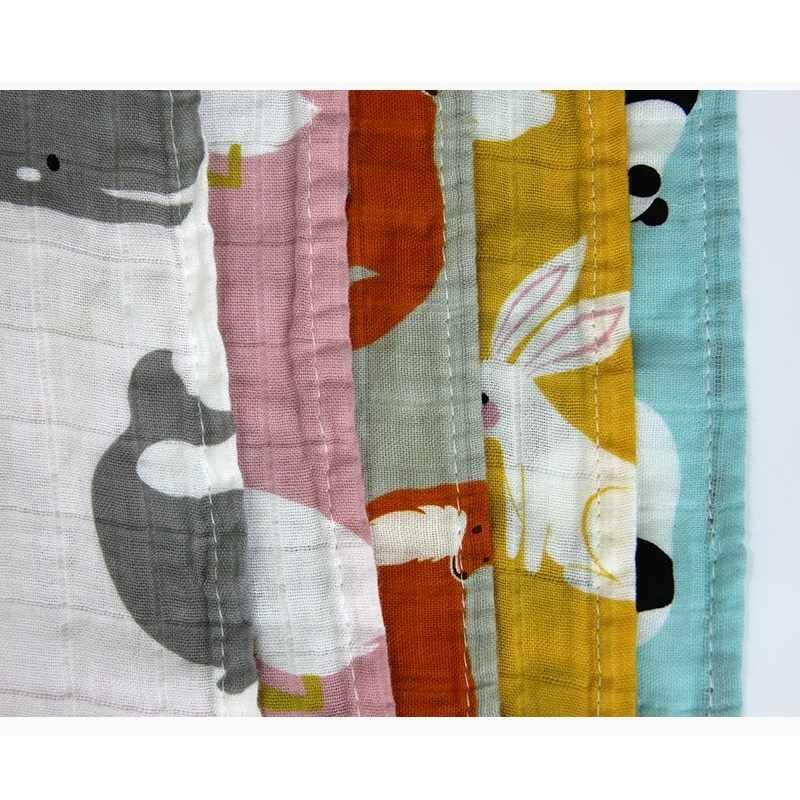 Детская отрыжка из органического хлопка, муслиновые газовые нагрудники для новорожденных, Детские банные полотенца, слюнявчик для младенца, банданы для детей с рисунком