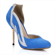 HOT 2016 New Sexy Red Bottom Rave Club Women Pumps 12cm Round Toe High Heels Suede Wing Women Singles Shoes Size 35-43 3845C-1a