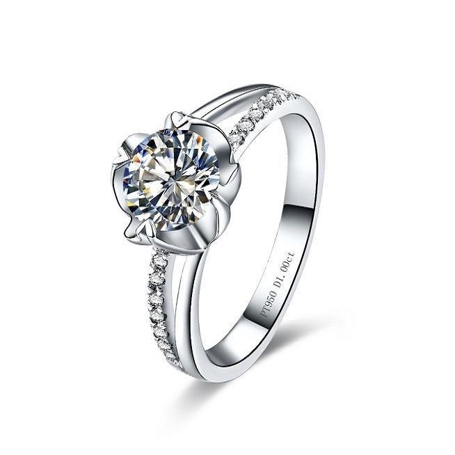 Fashion Jewelry White Flower Ring Jewelry