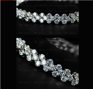 Image 4 - CWWZircons High Quality Rome Design 234 pcs Round White AAA+ Cubic Zirconia Stones Pave Chain Link Necklace CP007