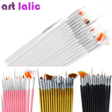 15 pcs Nail Art Decorations Brush Set Tools Professional Painting Pen for False Nail Tips UV Nail Gel Polish