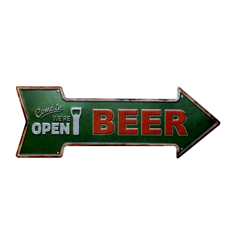 Arrow Beer Tin Sign Metal Plate Vintage Advertising Board Wall Art Bar Coffee Pub Cafe Decorative Home Decor