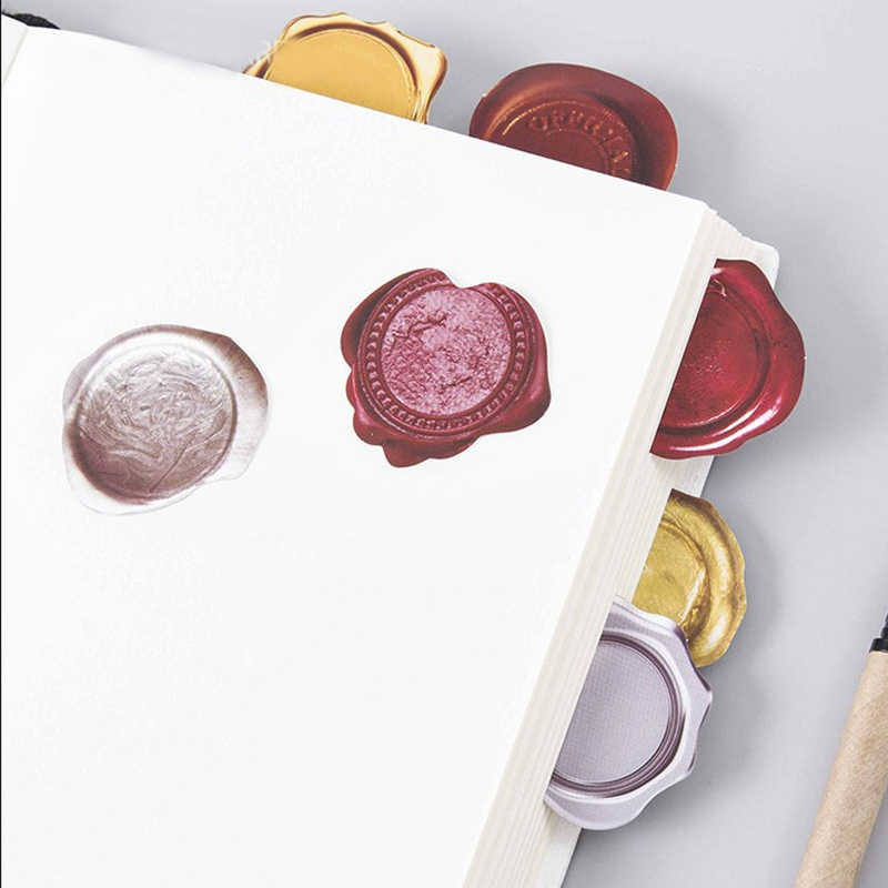 45 unids/lote creativo lindo sello de cera PVC decoración pegatinas Diy pegatina de diario Scrapbooking papelería pegatinas escuela suministros