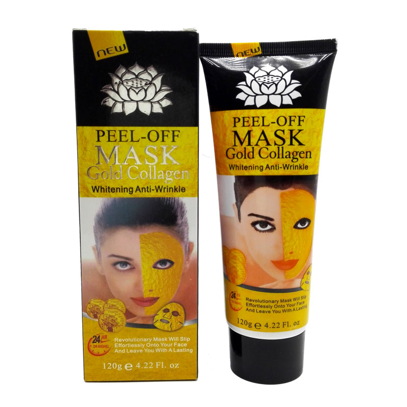 Masque facial de collagène de masque d'or de 120g 24K Peel off la peau blanchissant anti ride anti vieillissement