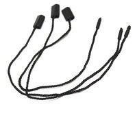 500pcs/lot black hang tag string in apparel 7'' hang tag strings cord for garment stringing price hangtag seal tag