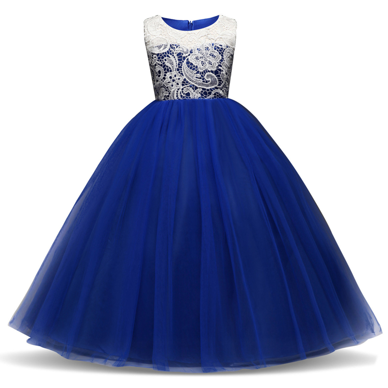 Children Princess Girl Christmas Party Dress Flower Tulle Wedding Gown Formal Wear Teen Kids Dresses For Girls Ceremony Vestidos 2