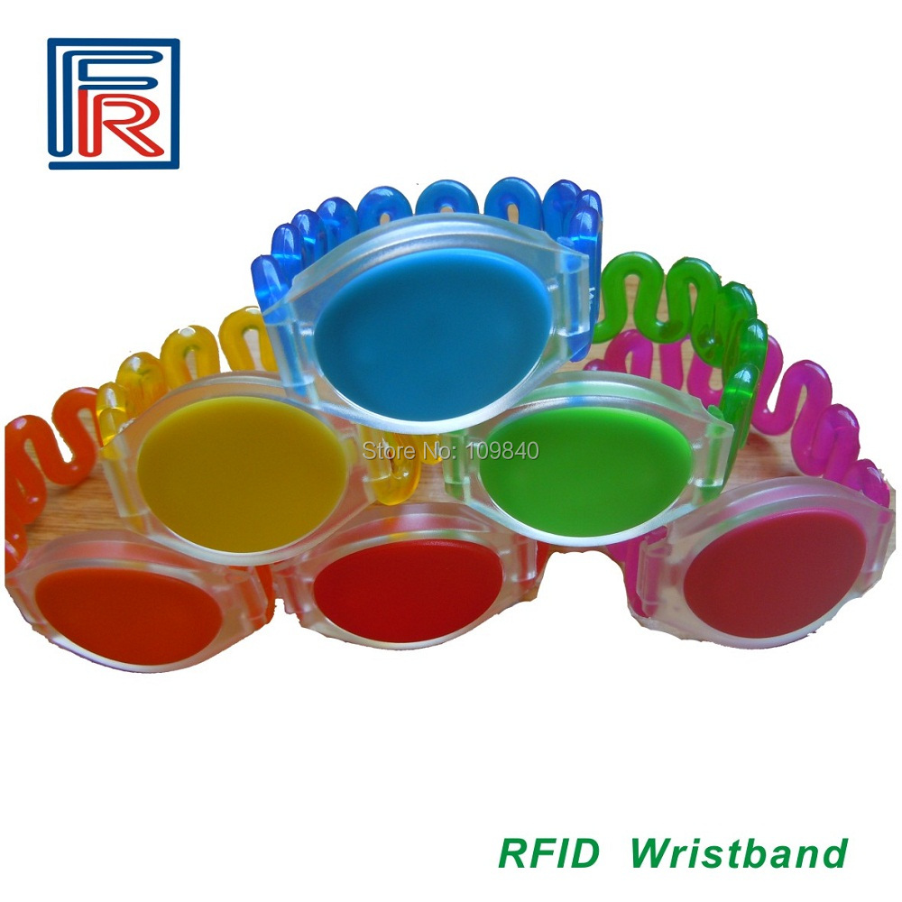 Swimming pool wristbands/Bracelets with 13.56MHz defferent color for access control,100pcs/lot