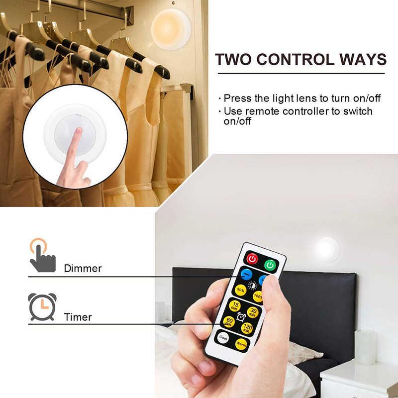 6500 18K 5000 18K 2700 18K 変色調光可能なリモートコントロールパックナイトライトタッチセンサー LED キッチンキャビネットの下近いライト